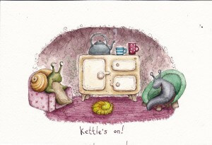 Kettle's on!